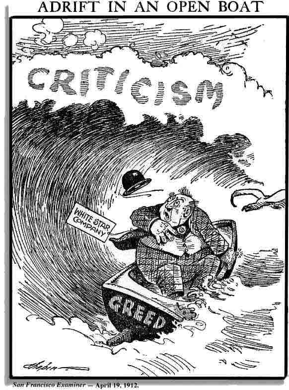 Titanic White Star Line Editorial Cartoon 1912