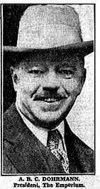 A.B.C. Dohrmann, President of The Emporium, 1935 - SF News photo