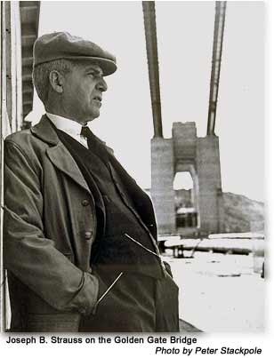 Photograph of Joseph Strauss. Photo by Peter Stackpole