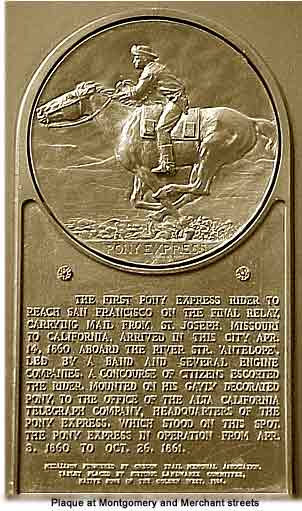 Founding of the Pony Express - 1860