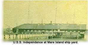 Photograph of the U.S.S. Independence at Mare Island