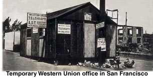 Temporary Western Union office in San Francisco