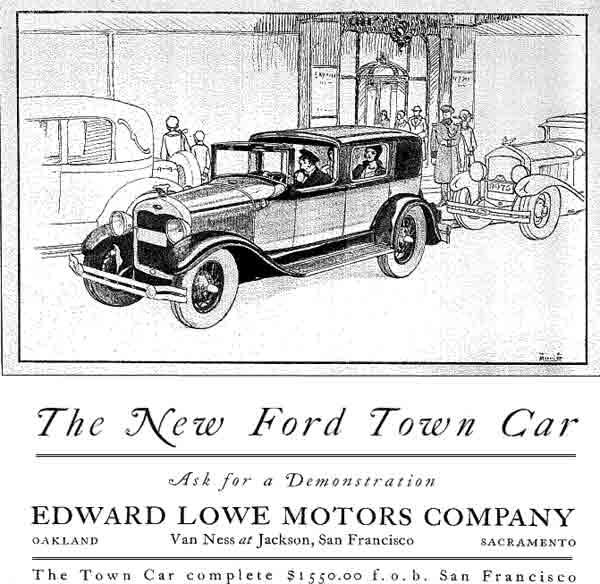 sc 1 st  Museum of the City of San Francisco & Ford Motor Company Advertisement - 1929 markmcfarlin.com