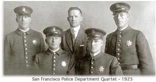 San Francisco Police Department Quartet in 1925