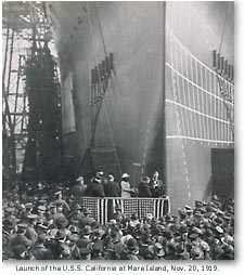 Launch of the USS California, November 20, 1919