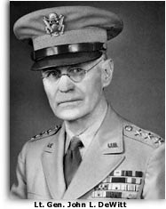 Photo of Gen. John L. DeWitt
