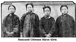Chronicle photo of 4 slave girls dressed in men's clothing